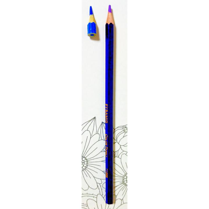 画像の色鉛筆は いつまで使えますか? カッターで削る時に 鉛筆補助軸で支えきれなくて グラグラする様になって来ました