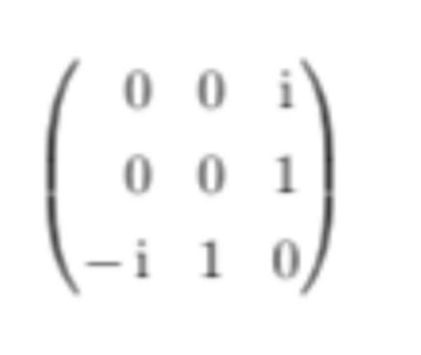このエルミート行列のスペクトル分解を教えていただきたいです