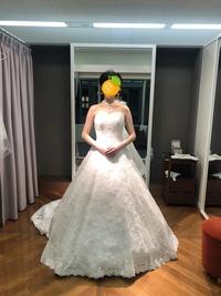 ウェディングドレスのアクセサリーについて相談しせてください このドレスは形がすごく綺麗ですが、シンプルなドレスで、アクセサリー類をどうつけるか悩んでいます。  アクセサリーは 2連パール、それとセッ...