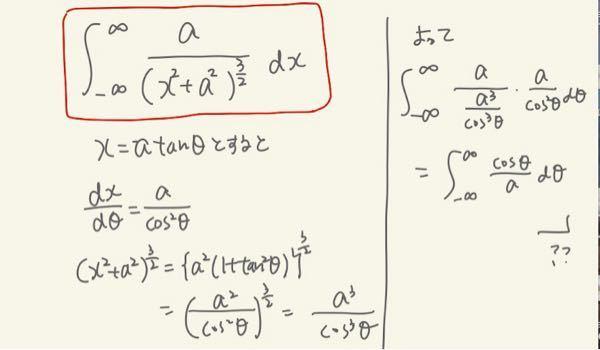 以下の広義積分でどこが間違っているか教えていただきたいです。 答えは2/aになって欲しいのですが…