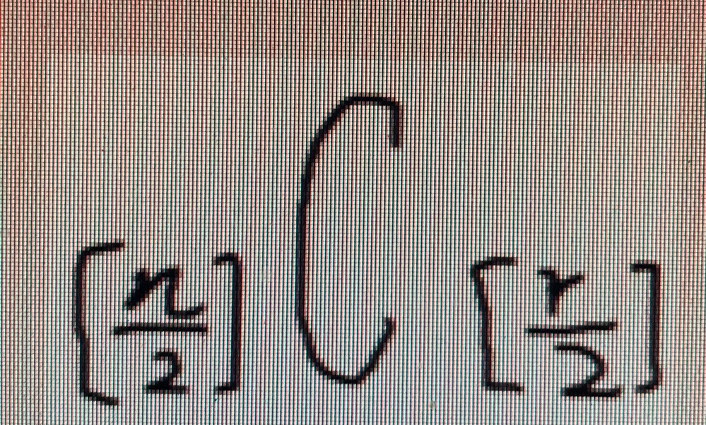 PowerPointで2項係数を打ちたいですが、上手く行きません。この画像の文字の打ち方を教えてください。画質悪くてすみません(--;)