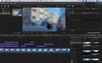 Final Cut Proについてです。 写真のようにタイムライン上に入れた動画が無音になっています。画面録画したものでもなく、少し前までは正常に動いていました。2日ぶりに開いたらこの状態で対処法が分かりません。詳しい方よろしくお願いします。