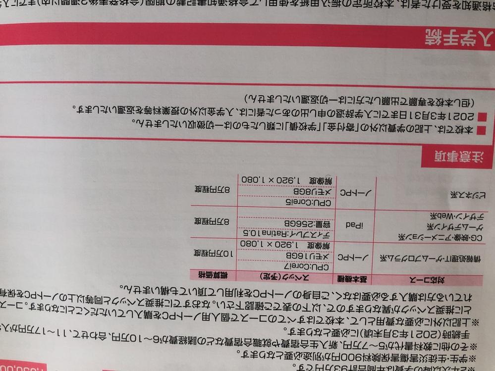 緊急‼︎大阪情報コンピュータ専門学校のCG映像クリエイター専攻に今年入るものです。 今日パソコ...