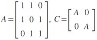 行列Aと行列Cの行列式を解いてください。 Aを消去したものを対角線上にならべた行列Cの対角要素の積は4になると思ったのですが、それは間違いなようで、本当の答えは-1です。 行列Cの行列式をどうやって導き出しましたか?
