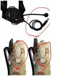 サバゲーにてヘッドセットを使おうと思っています。こちらの2つ穴のHDMIは一つ穴の端子に入るでしょうか?また普通に使えるでしようか?