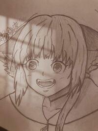 ど素人です。怪物事変の紺ちゃんを描きました。 ご評価、改善点、アドバイス、よろしくお願いします。