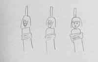 エンディングで女の子数人が木の棒に縛りつけられてうわーってなってるアニメってなんですか?