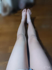 身長160cmで体重47kgなのですが、足太いですか? よく足が長いと言われるのですが長いですか? 私には、普通にみえるんですがどう思いますか??