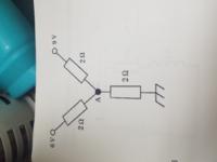 この節点Aの電位を求めよっていう電気回路の問題おしえてください。