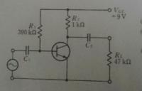 アナログ回路の課題が分かりません。 2SC1815の特性を有するトランジスタを用いて、 図の回路を作成した。次の問いに答えよ。  ①この回路の交流回路をかけ。 ②hパラメータを用いて等価回路をかけ。hoe,hreは省略。 ③電圧増幅率Av,入力インピーダンスZiを求めよ。    ①は交流回路ではないんでしょうか?