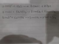 ジエチルエーテル層に炭酸水素ナトリウムを加えて未反応の酸を取り除きエステルと分離させる反応があるんですけど、この時、写真のようにエステルと炭酸水素ナトリウムが反応しないのはなぜですか? 化学が得意な方よろしくお願いします。
