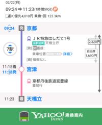 下図はなぜ宮津で降りて普通列車に乗り換えさせようとしているのでしょうか? 普通に天橋立行きなので乗り換えなしで行けますよね?