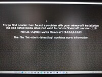MinecraftForge1.10を入れたらこのような画面になりました 対処法はありますか?