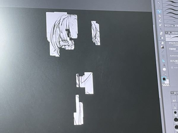 絵で線画を描いていたのですが突然レイヤーが真っ黒になってしまい、まき戻っても自分が描いた部分だけが白くなり(しかもドットぽいカクついた感じ)元に戻す方法が分かりません 解決策ありませんか? 使...