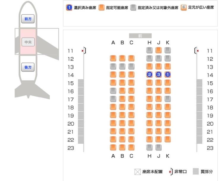 【至急】飛行機の揺れにくい座席について 飛行機の座席で翼辺りが揺れにくい事は知っているのですが、この場合どこがオススメでしょうか?? 数字で教えていただければ助かります