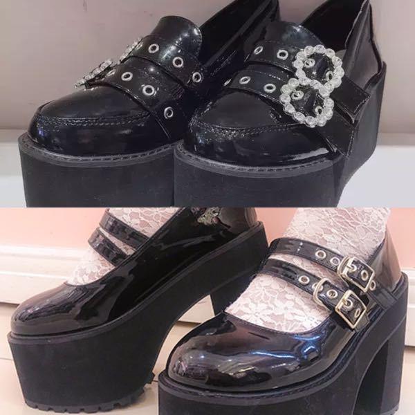 画像のbubblesの厚底のような形で、厚底ではない靴を探しています。 元々背が高めなのであまり厚底を履きたくなくて^^; ご存知の方いたら教えていただきたいです!