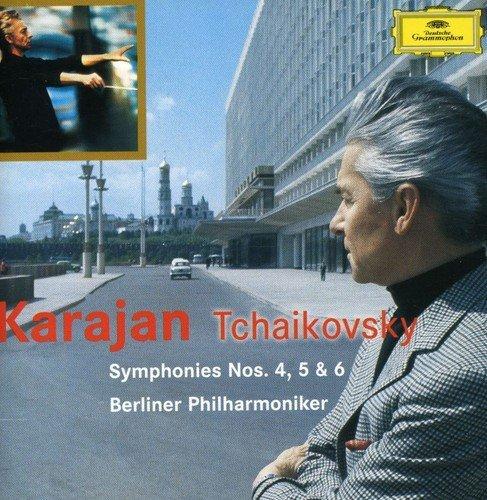 このCDはいかがでしょうか。感想など。 ヘルベルト・フォン・カラヤン指揮・チャイコフスキー交響曲第4番~第6番「悲愴」・ベルリンフィルです。CD2枚組みDGグラモフォン。Amazon等どこか。ジ...