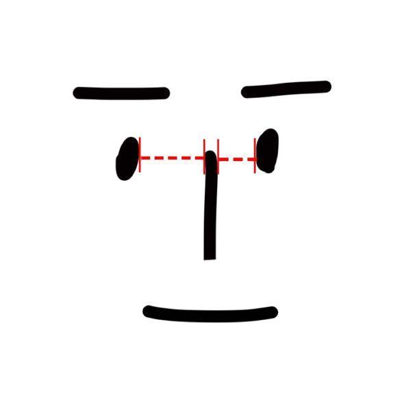 こんな感じで左右の目の鼻との距離が違うんですけど、離れてる方を少しだけ鼻の方に近づける事は出来ますか? 整体などで。 教えていただけたら嬉しいです
