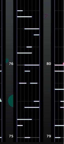 プロセカ 今回のイベの新曲や、ポテト、ギミギミのような譜面が全くできません… 例えば、デカノーツその上に小さなノーツとか、その逆とかですね。これで分かりますかね?一応画像は用意しましたけど…(こ...