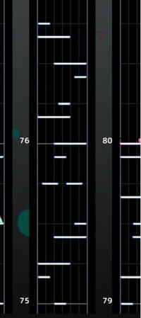 プロセカ 今回のイベの新曲や、ポテト、ギミギミのような譜面が全くできません… 例えば、デカノーツその上に小さなノーツとか、その逆とかですね。これで分かりますかね?一応画像は用意しましたけど…(これはポテ...