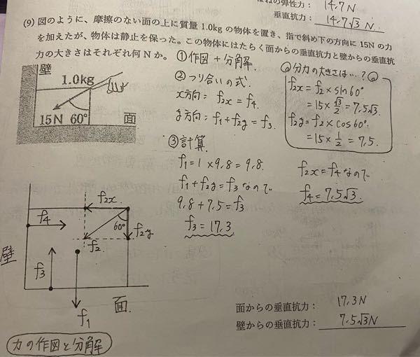 この問題でなぜX方向が斜面ではないのにsinになるかを教えてほしいです。