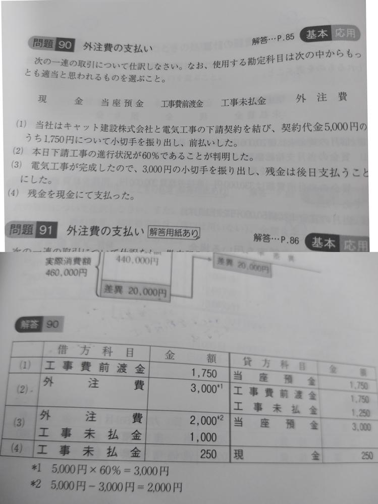 建設業経理士2級問題90の(3)で、なぜ未払金1000円が借方にきているのでしょうか?