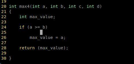 vmiを使っています。enterを押して改行するときのスペースが広すぎるので狭くしたい。 写真のカーソルは、if文の行から エンターキーを押したカーソルの位置です。 ifと同じラインにそろえると...