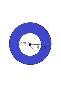 算数の問題です。 次の色のついた部分の面積を求めなさい という問題です。 3.14×9×9=254.64 3.14×6×6=100.48 254.64-100.48=154.16 の何が違いますか?  ちなみに...