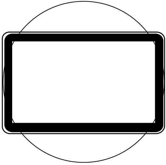 イラレに関して質問です。 添付写真の通り、四角い枠と〇が重なっています。 図形作成ツールで作成しました。 丸の中だけ枠を残して、四隅は切りとるようにしたいです。 (虫眼鏡でモニターを覗いている図...