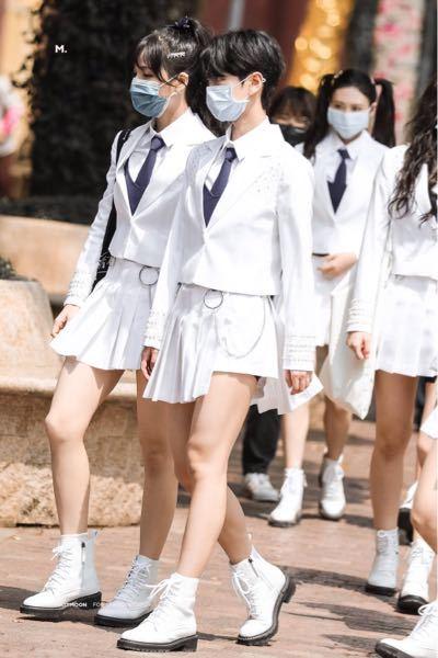 この写真のショートカットの子の名前はなんですか? プデュ 中国 k-pop BTS