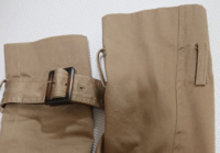 トレンチコートの袖ベルトって外してもいいですか? あるとゴテゴテして似合わないと感じるんです。  できればベルトと袖ベルトを取って着たいです。