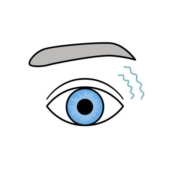 瞼(まぶた)が、ピクピクするんですけど なんでですか? ・痛かったりは ありません。