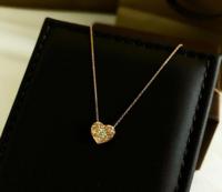 このネックレスはどこのブランドのものでしょう。金、ダイヤモンド本物です。