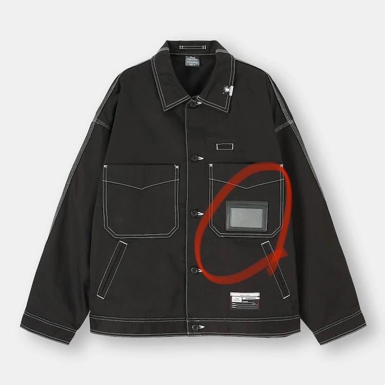 guにてミハラヤスヒロコラボの以下のジャケットを購入しました。 購入してから気付いたのですが、...
