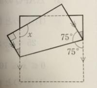 数学の角度の大きさについて質問です。 写真にある長方形の紙を折り返した図形で角度が黒で示されている部分が等しい角度である理由を教えて下さい。