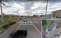 ロードバイクで車道を走行中に画像のような交差点に差し掛かった際 正しい右折の方法はどうすればいいのでしょうか?