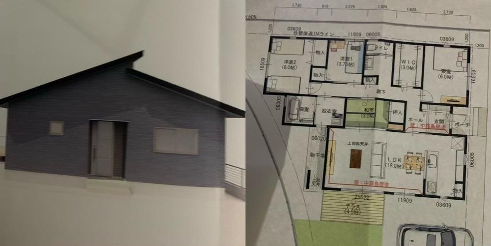 マイホームの外観について悩んでいます。 ようやく間取りも完成し、ハウスメーカーとの契約も終えました。 ですが、家の顔となる玄関側の見た目を全く考えておらず今になって契約したことを後悔しています。 外