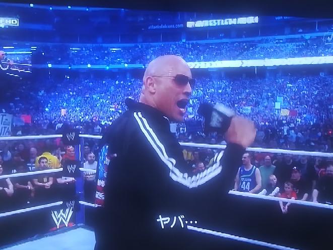 ザロックがヤバ…って日本語のヤバいのことですか?アメリカでヤバいは、スキヤキやテンプラ、ツナミみたいに日本語英語になってるのですか? WWE