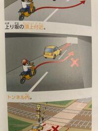 トンネル内でも車両通行帯がある場合、追い越し可能だと教わったのですが、追い越し禁止の場所という項目にこの写真が載っていました。 破線の場合は車両通行帯ではないのでしょうか?