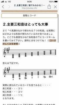 イ長調の中の七つの和音ですが、Aの場合ラ〜ドの短三度、ラからシの完全五度短三話オンだと思ってたのですが実際は長三和音でした。何故ですか?調号に気をつけてと書いてありますし調号と何か関係ありますか?