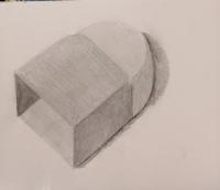 消しゴム。大きめに描いてみました。 課題点を教えてください。
