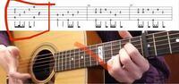 ここの指よ押さえ方どうなってますか? 2フレットの2弦薬指、3弦中指、4弦人差し指で抑えていますか?自分がやると狭いのですが下手なだけですかね?