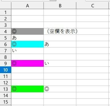 """エクセル365で、自分より上で、自分に一番近いセルの値を調べるにはどうしたらよいでしょうか。(空欄は除いて考えます) 2行目から始まる表を添付しました。 A列に◎が入った場合、そのセルよりも上で、そのセルに一番近いセルのセル値をB列に表示するにはどうしたらよいでしょうか? (空欄は除いて考えます) A4◎→A4より上のセルはすべて空欄→B4は空欄 A6◎→A6より上のセルでは、A5に""""..."""