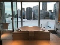 こういうホテルのお風呂って外から見られる心配はないのでしょうか? ブラインドか何かを閉めてお風呂に入るのか、それとも外からは見えない仕様になっているのか気になります。
