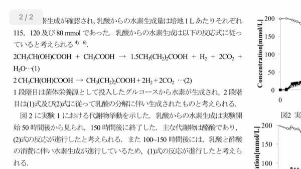 https://detail.chiebukuro.yahoo.co.jp/qa/question_detail/q13241255988?fr=ios_other 乳酸発酵について。 グルコースが乳酸菌により、乳酸に分解されますが、 この乳酸が酢酸と反応し、水素を生成する反応があるようです。 この酢酸との反応に関与する微生物は何でしょうか。 出典元は東北大学ですが、土壌を使用し、と記載はあ...