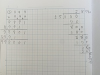方眼ノートに筆算を書くのが難しいのですが、何か簡単にできるポイントはありますか? 算数ドリル等の問題をノートに書き写して筆算する場合、答えの桁数が多いと、掛け算なら左へ、割り算なら右へ、書く欄がどんどん増えていきますよね? 答えの桁数を見越して位置を確認しながら問題を書かないとノートがきれいに使えないので、とてもストレスになっているのですが、何か良い方法があるのでしょうか? 無知でお恥ず...
