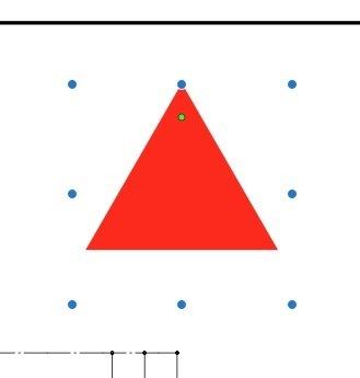 Macの標準ソフトの「プレビュー」でPDFを開き、マークアップツールの中の「シェイプ」で多角形の中の三角形を描いたあと、 この▲を右向きに回転させるにはどうすればいいのでしょうか。 調べたところ、トラックパッドを使っている場合は2本指で回転させればできるようなのですが、マウスで回転させる方法があれば教えて下さい。よろしくお願い致します。 ちなみに添付画像の中の小さな緑色の点は、六角形など...