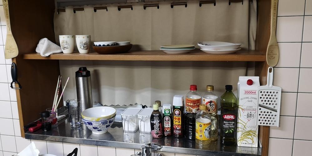 キッチンのこのスペースをスッキリしたいです。 何をどうすれば良いでしょうか、ざっくりですいません。
