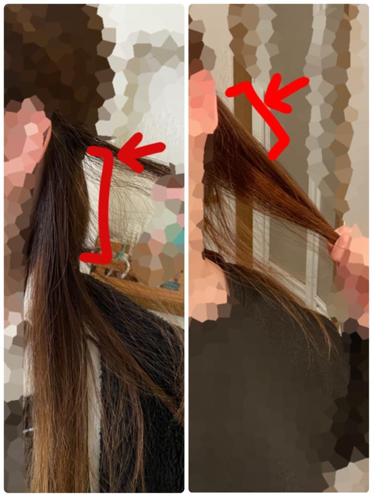 美容室でカット+カラー+トリートメントをしてもらって、ハイライトも入れてもらったんですが… これ、根本ムラになってるというか…染まってないですよね? 髪の毛黄色みを抑えるということでラベンダー...