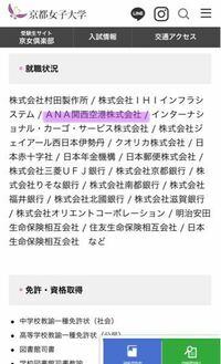 京都女子大学の法学部の就職状況を調べたところ、ANA関西空港株式会社が載っていたのですが、税関職員として就職したという推測はあり得ますか? 回答よろしくお願いします!!